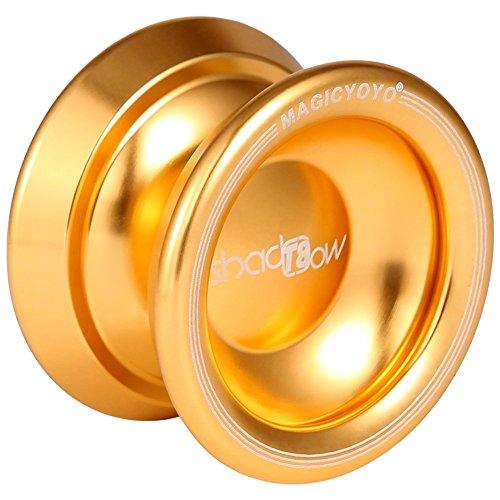 RONSHIN [Ultra-Low Sale Magic YoYo T8 Magic Shadow Golden Aluminum Professional Yo-Yo T8