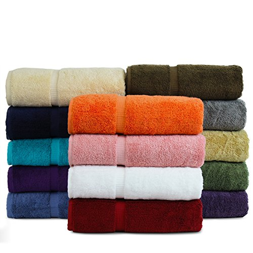 BC BARE COTTON Luxury Hotel & Spa Towel Turkish Cotton Washcloths - Mix Color - Dobby Border - Set...