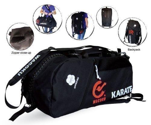 Wkf Aprobado Karate Lona Bolsa deporte & Mochila