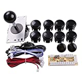Easyget Zero Delay Pc Arcade Game Joystick Cabinet DIY Parts Kit for Mame Jamma & Fighting Games Support All...