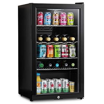 Subcold Super85 LED - Under-Counter Fridge | 85L Beer, Wine & Drinks Fridge | LED Light + Lock and Key | Energy Efficient (Black, 85L)… from Subcold