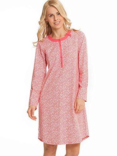 CALIDA Damen Nachthemd Langarm 100 cm Knopfleiste Sleepshirt Bigshirt