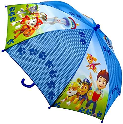 SRV Hub Paraguas con licencia transparente, resistente al viento, paraguas de poliéster de 19 pulgadas, mejor para clima lluvioso, hermoso regalo para niños pequeños