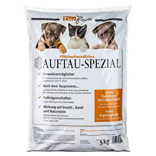 Tierfreude Pfotenfreundliches Auftau Spezial 5kg Beutel Streumittel gegen EIS und SCHNEE