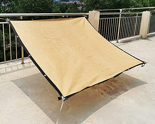 Toldo Vela de Sombra con Ojales, Toldo Vela de Sombra Malla De Sol Resistente A Los Rayos UV para Jardín, Resistente a la Intemperie, Protección Solar,Beige-3x3m/9x9ft