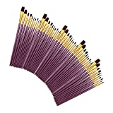 LiChaoWen Juego de cepillos de Nailon Pinceles de Pintura de Cabello de 50 PCS Nylon Set for Acuarelas de acrílicos (Color : Purple, Size : One Size)