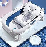 Baby Bath Cushion Pad Newborn Bathtub Mat Infant Bath Supporter Net Baby Bathtub Pillow Nonslip Floating Bathing Tub Seat