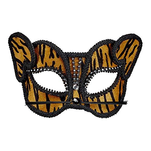 WIDMANN Maschera Tigre Con Strass Maschera Party E Carnevale Giocattolo 588