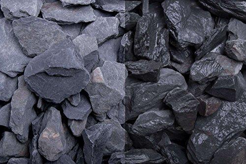 Kies Splitt Zierkies Edelsplitt Canadian Slate schwarz 30-60mm Sack 20 kg
