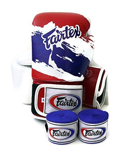Fairtex Muay Thai Boxing Gloves BGV1Limited Edition–Thai Pride, taglia: 10121416oz training & sparring Gloves for Kick Boxing MMA K1, Thai Pride