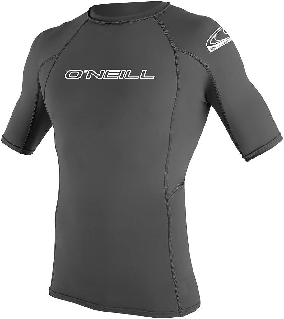 New O'neill Men's Basic Skins Crew Polyester Elastane Grey