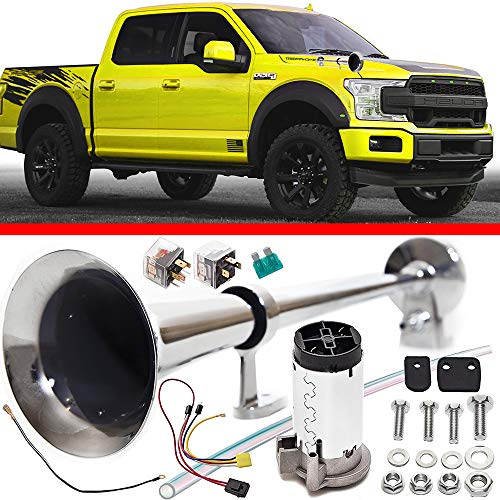 Cobra Tuni Air Horn Kit for Trucks Super Loud 150DB 12V - Advanced Technology, Easy to Connect, Optimal Safety on The Road - Truck Air Trumpet Suitable for Trucks SUV Boats Train