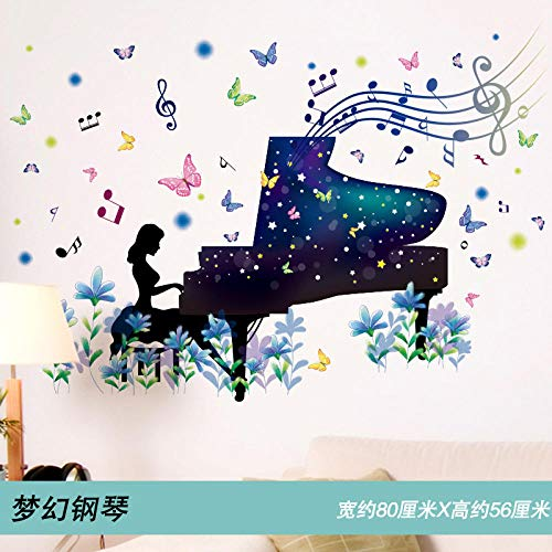 Wandaufkleber3D Stereo Wandaufkleber Schlafzimmer Decke Sternenhimmel Aufkleber Tapete Schlafsaal College Selbstklebende Poster Papier Dekorative Tapete @ 12 Dream Piano [Buy More Deals] _Big