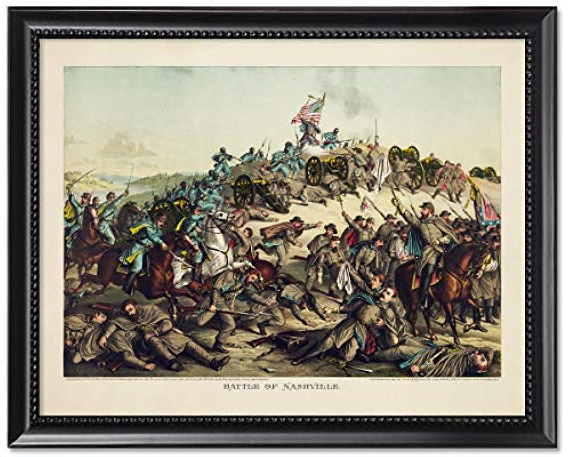 転用一般的に言えば一般的に言えばブラックウッドフレーム入り印刷8?x 10?:ナッシュビルの戦い、Civil War。