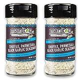 Manitou Truffle Salt, Parmesan, Black Garlic Seasoning 1.6 oz Glass Jar - With [3 Delicious Truffle Recipes List] - USDA Certified Organic, Non-GMO, Gluten Free, Kosher [3-Pack]