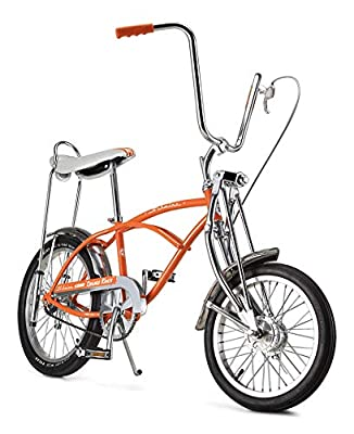 Schwinn Classic Old School Krate Bike, Ape Handlebar and Bucket Saddle, 20-Inch Wheels, Orange