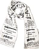 CVS Receipt Scarf, double-sided, soft fleece for any season. Designed to look just like a CVS receipt. Makes a great gift!