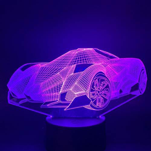 Las Luces con alimentación de batería remota cambian sutilmente el Color del automóvil para los niños con un Regalo Moderno con una luz Nocturna