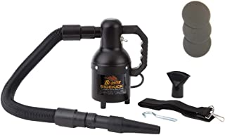Metro Vac Blaster Sidekick Professional Motorcycle Dryer In Black Matte Finish   Includes 3 Extra Filters - 3' to 6' Stretch Hose - Rubber Nozzle - Shoulder Strap - Wall Mount Hook   Model SK1-CD