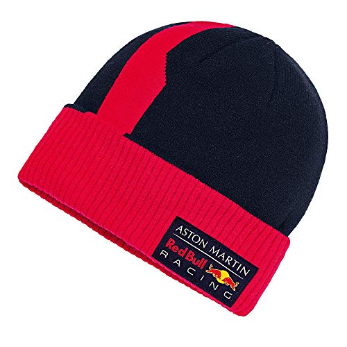 Red Bull Racing Official Teamline Beanie, Unisex One Size - Original Merchandise
