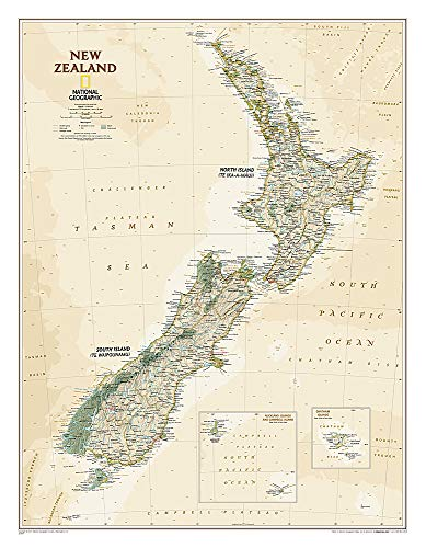 New Zealand Executive, Tubed (National Geographic Reference Map)