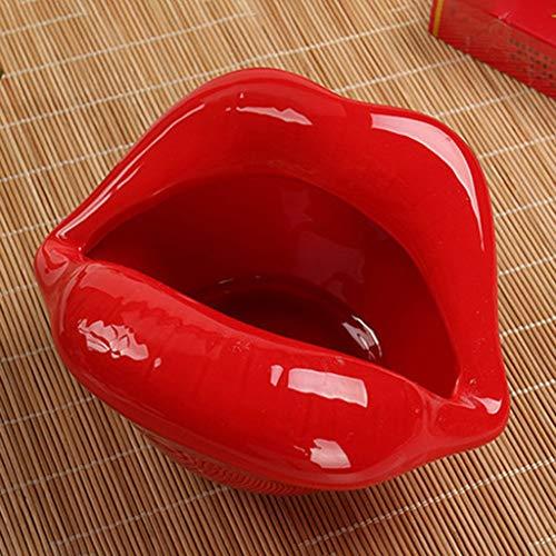 MissLi Moda Hogar Enviar Novio Regalo Cigarro Cristal Cenicero Bronce Tallado Ceniza Accesorios Decoración del Hogar (Color : C)