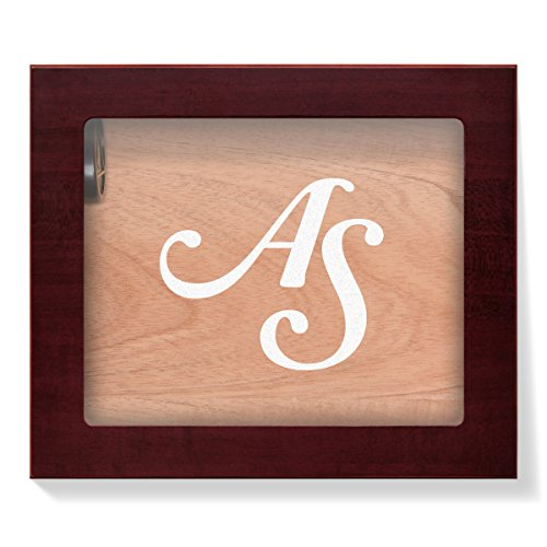 Angelo Humidor mit Glasdeckel individuelle Gravur für 25 Zigarren – Initialen