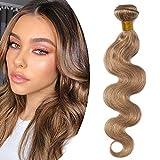 12'(30cm) SEGO Brazilain Human Hair Bundles Extensiones de Cortina Pelo Natural Humano [#27 Rubio...