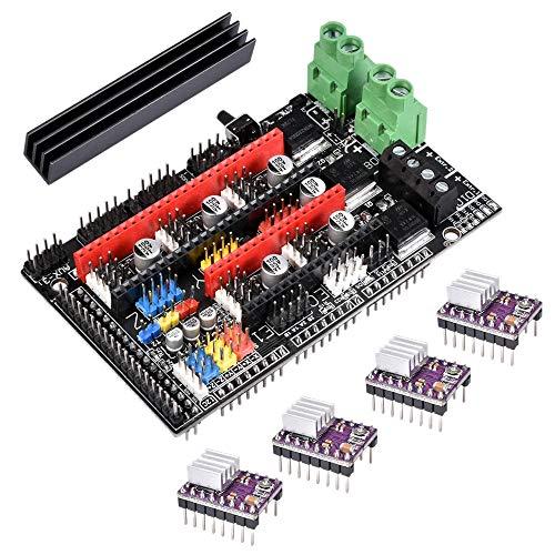 Nrpfell Verbessertes Ramps 1.6 Plus Mainboard Mit 4 Teiligem DRV8825 Treiber Kit Basis auf Ramps 1.6/1.5/1.4 Steuer Platine für 3D Drucker Teile