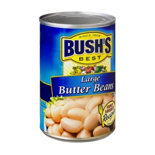Bush's Best Large Butter Beans 16 Oz (Pack of 6)