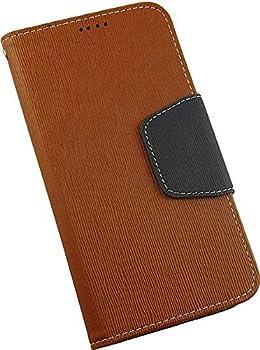 New BEYOND CELL Brown/Navy INFOLIO Wallet ID Credit Card Cash CASE Cover Stand for VERIZON Motorola Droid MAXX 2 Phone  XT1565 XT1561 XT1562 XT1563   aka Moto X Play
