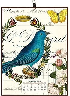 2013 Flora & Fauna Birds Vintage Calendar