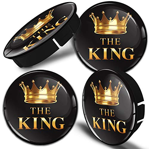 SkinoEu® 4 x 60mm Silikon Nabenkappen Kappen The King Felgendeckel Radkappen Radnabendeckel Nabendeckel Auto Tuning C 48
