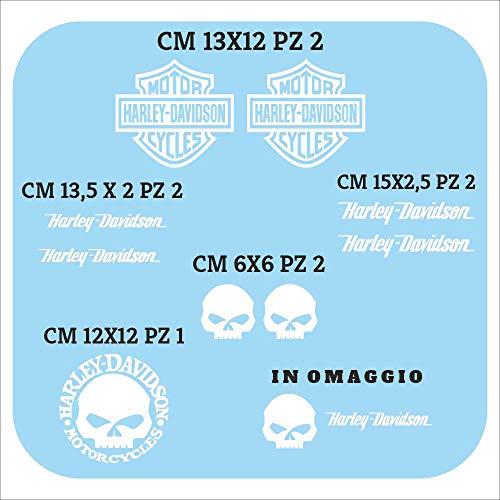 Set Adesivi Harley Davidson Decalcomania Stickers Compatibili Moto