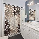 Thomas655 - Cortina de Ducha de Color Beige, marrón y Crema, para decoración del hogar, baño, Dormitorio, decoración de Chica, Regalo Floral