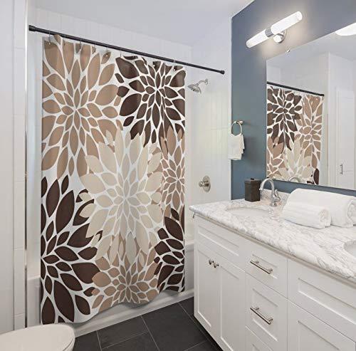cortinas de baño marron