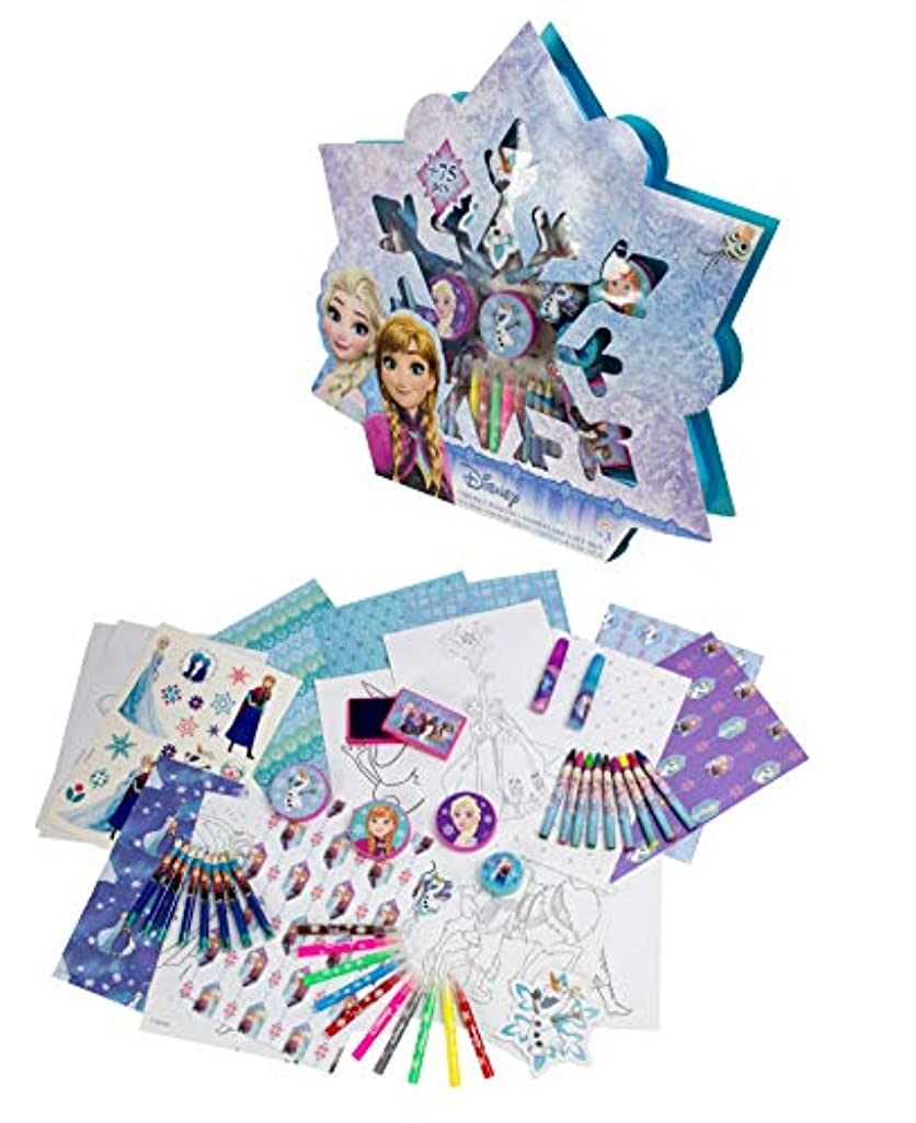D'arpéje Disney Frozen CFRO002 Creative Activity Snowflake Giftbox Set (75 pcs)