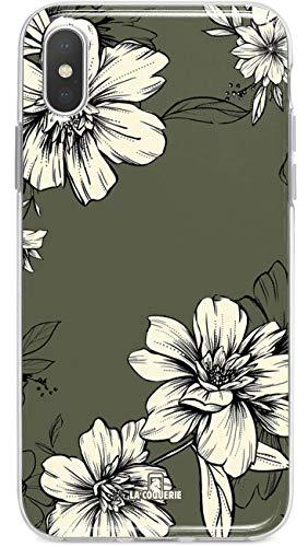 La coqueserie - Cover per Sony Xperia Z2, motivo: fiore kkisilicone, con funzione di supporto, realizzata in Francia per smartphone