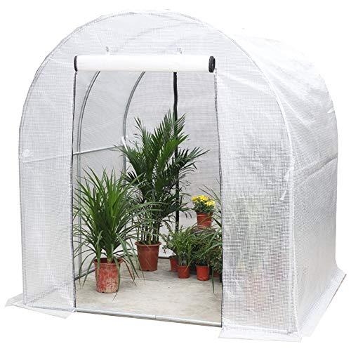 Carpas de invernadero/ Invernaderos jardin 1 M / 1,5 M / 2 M / 2,5 M / 3 M De Largo Carpa Polytunnel De Invernadero De Plantas De Macetas De Jardín, Invernadero Al Aire Libre Con Protección Contra La