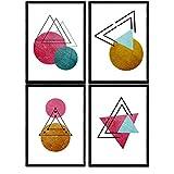 Nacnic Geometrische Poster 4-er Set. Nordischer Stil