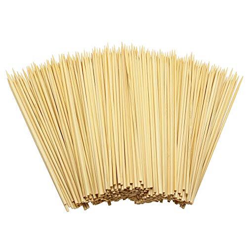Hysagtek 400 Stück 15cm Natürliche Bambusspieße Schaschlikspieße Holz für BBQ, Vorspeisen, Obst, Cocktail, Kabab, Schokoladenbrunnen, Grillen