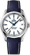 Omega Seamaster Aqua Terra Automatic White Dial Blue Nylon Men's Watch 23192392104001