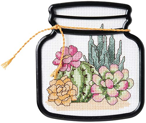 PLAID ENTERPRISES Cross Stitch, Terrarium Cactus (14 Count), One Size