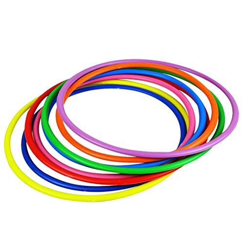 STOBOK 12 Pezzi Anelli di Lancio in plastica Assortiti Giochi per Pratica di velocità e agilità