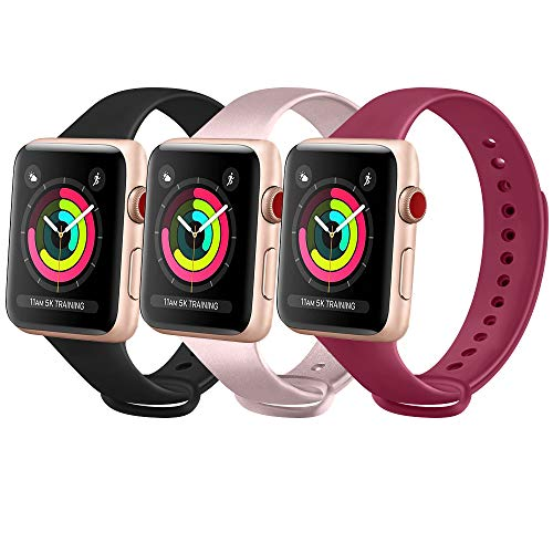 FUUI Correa Compatible con Apple Watch 38mm 42mm 40mm 44mm,