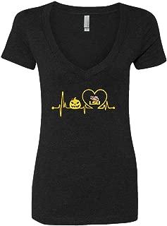 FanPrint LSU Tigers T-Shirt - Pumpkin Heartbeat Halloween - Team