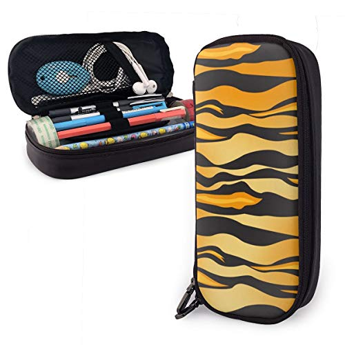 Tiger Texture - Estuche para lápices para niños y niñas, tamaño grande, para estudiantes, universidad, material escolar y oficina