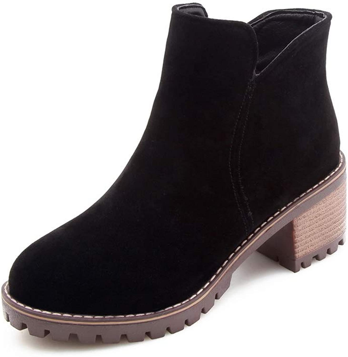 1TO9 Womens Structured Solid Boots Urethane Boots MNS02768