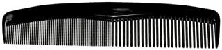 Comfort Hair Dressing Table Coarse/Fine Hair Comb Set, Black, 8 Inch (12 Pack)