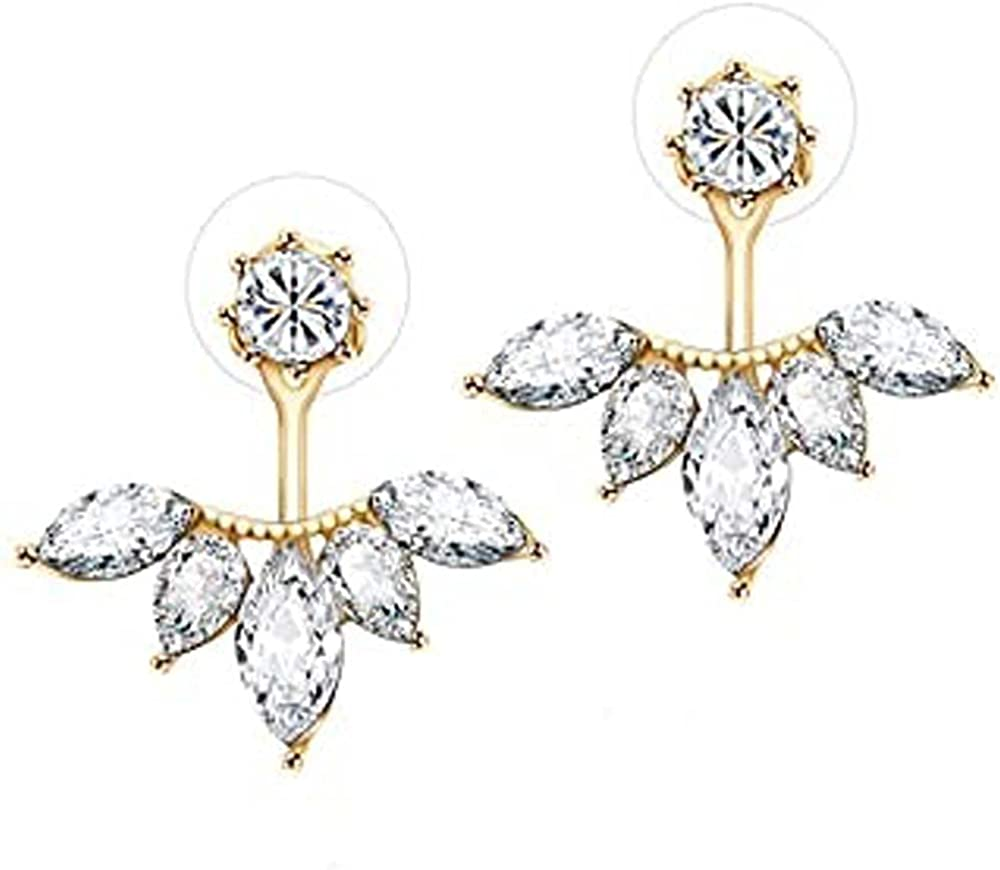 Elegant Touch Marquise Diamond Round Earrings Cut Deluxe Cur Ranking TOP18